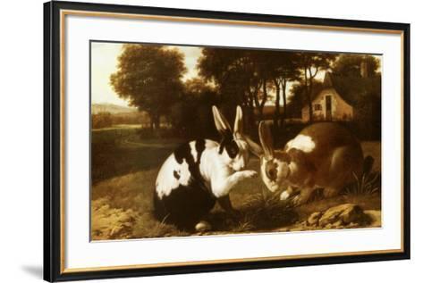 Two Rabbits in a Landscape--Framed Art Print