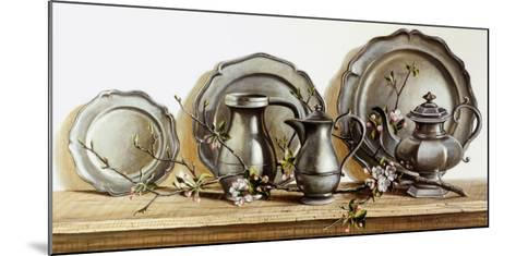 Pewter with Apple Blossom-Pauline Ebl? Campanelli-Mounted Art Print