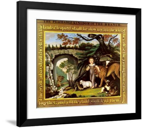 The Peaceable Kingdom of the Branch-Edward Hicks-Framed Art Print