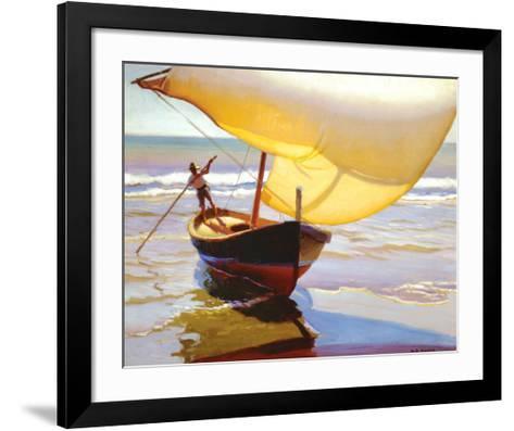 Fishing Boat, Spain-Arthur Rider-Framed Art Print