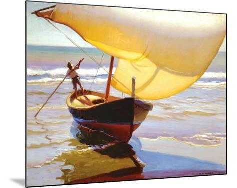 Fishing Boat, Spain-Arthur Rider-Mounted Art Print