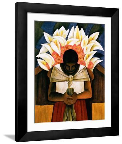 Woman of Tehuantepec-Fernando Diaz-Framed Art Print