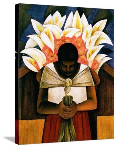 Woman of Tehuantepec-Fernando Diaz-Stretched Canvas Print