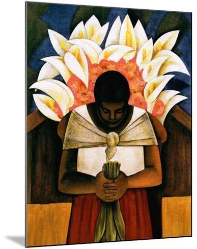 Woman of Tehuantepec-Fernando Diaz-Mounted Art Print