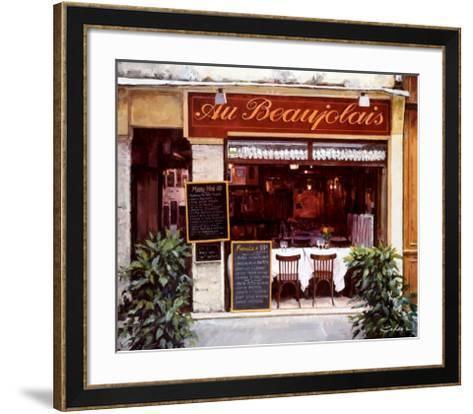 Restaurant au Beaujolais-Robert Schaar-Framed Art Print