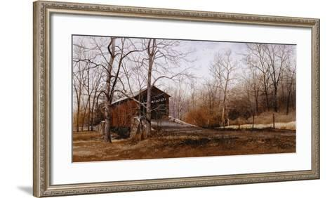 Kissin' Bridge-Ray Hendershot-Framed Art Print