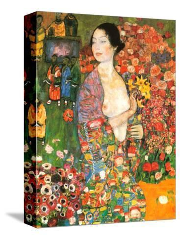 Die Tanzerin-Gustav Klimt-Stretched Canvas Print
