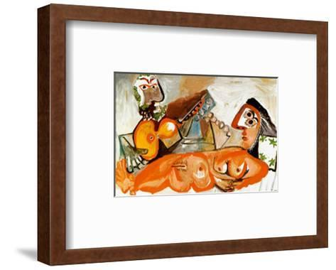 Reclining Nude and Musician-Pablo Picasso-Framed Art Print