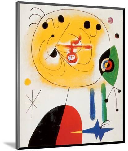 Et Fixe Les Cheveux d'une Etoile-Joan Mir?-Mounted Art Print