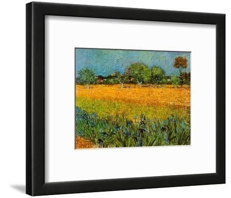 View of Arles with Irises-Vincent van Gogh-Framed Art Print