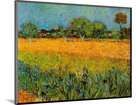 View of Arles with Irises-Vincent van Gogh-Mounted Art Print