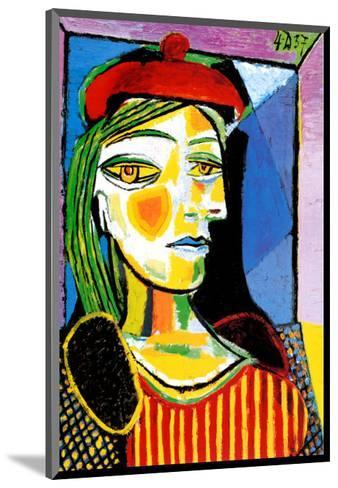 Girl with Red Beret-Pablo Picasso-Mounted Art Print