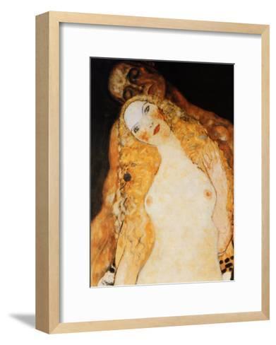 Adam and Eve-Gustav Klimt-Framed Art Print