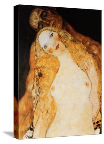 Adam and Eve-Gustav Klimt-Stretched Canvas Print