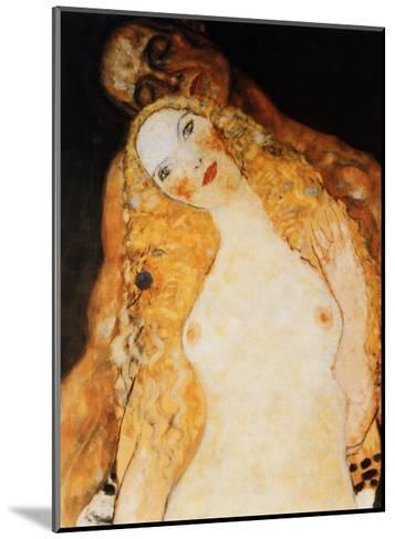 Adam and Eve-Gustav Klimt-Mounted Art Print