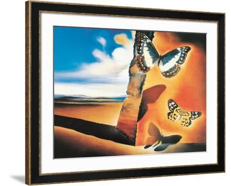 Landscape with Butterflies-Salvador Dal?-Framed Art Print