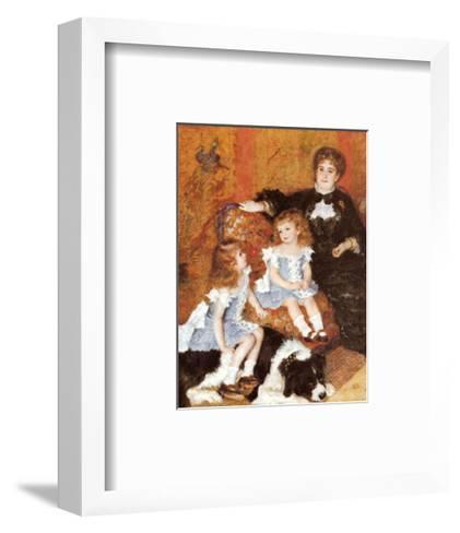 Madame Charpentier and Her Children-Pierre-Auguste Renoir-Framed Art Print
