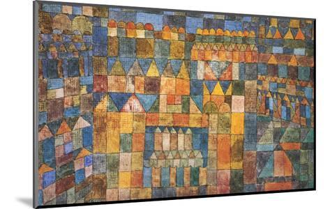 Tempelviertel von Pert, c.1928-Paul Klee-Mounted Art Print