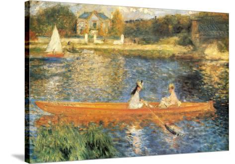 The Seine at Asnieres-Pierre-Auguste Renoir-Stretched Canvas Print