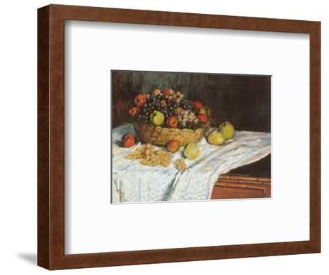 Still Life with Grapes and Fruit-Claude Monet-Framed Art Print