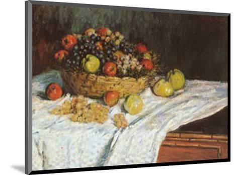 Still Life with Grapes and Fruit-Claude Monet-Mounted Art Print
