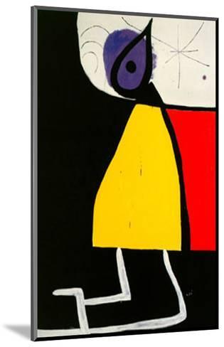 Woman in the Night-Joan Mir?-Mounted Art Print