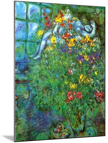 Le Bouquet Ardent-Marc Chagall-Mounted Art Print