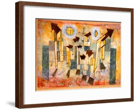 Wandbild aus dem Tempel der Sehnsucht Dorthin-Paul Klee-Framed Art Print