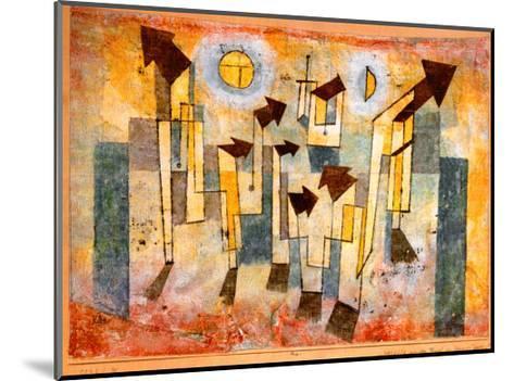 Wandbild aus dem Tempel der Sehnsucht Dorthin-Paul Klee-Mounted Art Print