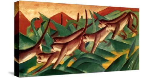 Affenfries, 1911-Franz Marc-Stretched Canvas Print