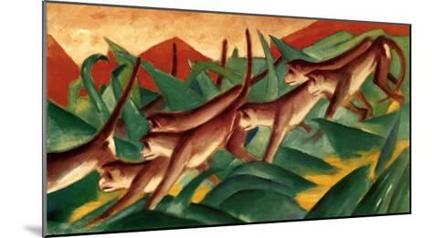 Affenfries, 1911-Franz Marc-Mounted Art Print