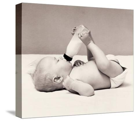 Thirsty Baby-H^ Armstrong Roberts-Stretched Canvas Print