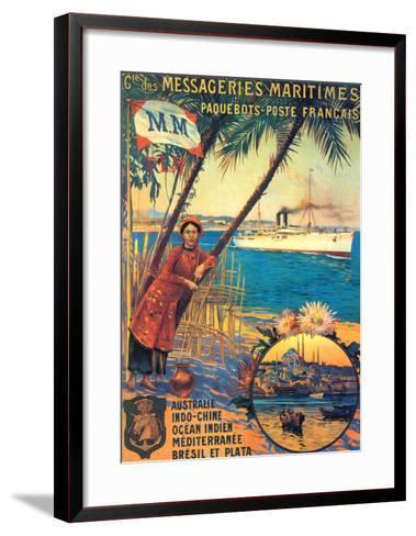 Messageries Maritime-David Dellepiane-Framed Art Print