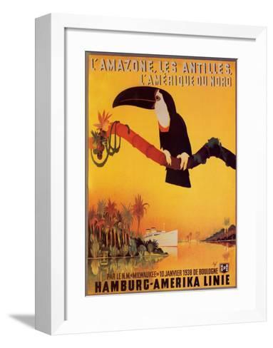 L'Amazone les Antilles-Peter Fussey-Framed Art Print