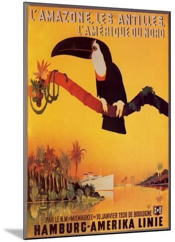 L'Amazone les Antilles-Peter Fussey-Mounted Art Print