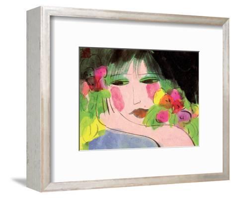Girl's Face-Walasse Ting-Framed Art Print