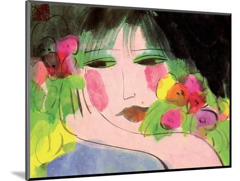 Girl's Face-Walasse Ting-Mounted Art Print