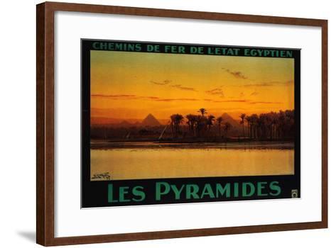 Pyramides-M^ Tamplough-Framed Art Print