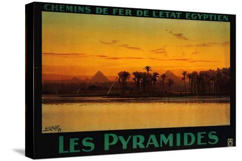 Pyramides-M^ Tamplough-Stretched Canvas Print