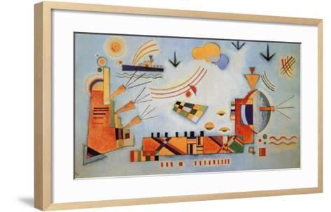 Milder Vorgang, 1928-Wassily Kandinsky-Framed Art Print