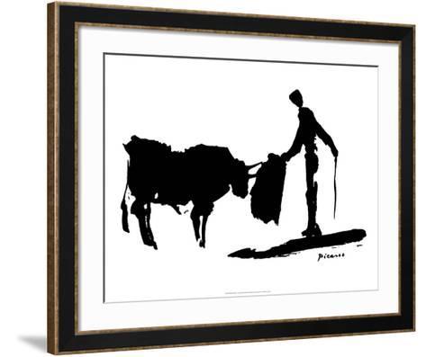 Bullfight II-Pablo Picasso-Framed Art Print