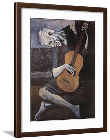 The Old Guitarist, c.1903-Pablo Picasso-Framed Art Print