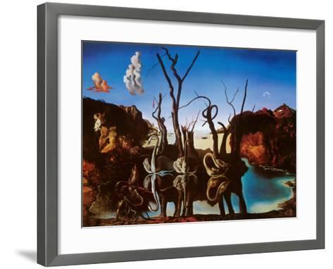 Swans Reflecting Elephants, c.1937-Salvador Dal?-Framed Art Print