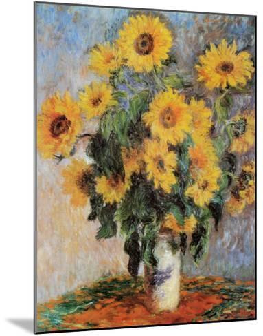 Sunflowers, c.1881-Claude Monet-Mounted Art Print