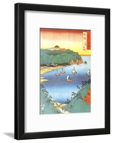 Inlet at Awa Province-Ando Hiroshige-Framed Art Print
