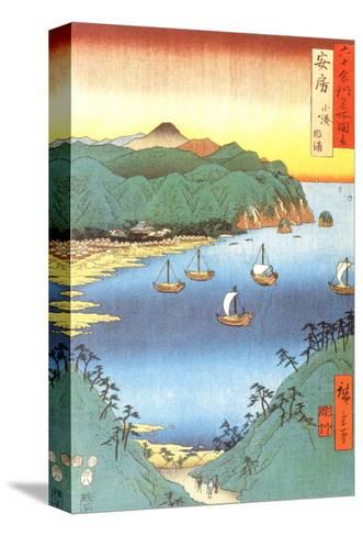 Inlet at Awa Province-Ando Hiroshige-Stretched Canvas Print