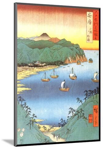Inlet at Awa Province-Ando Hiroshige-Mounted Art Print