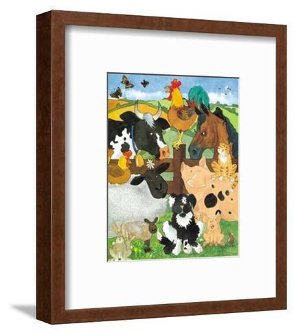 Farmyard Fun-Julia Hulme-Framed Art Print