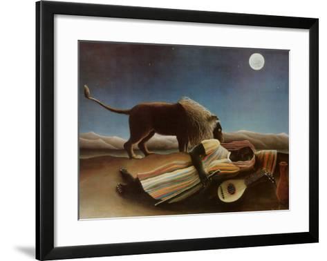 Sleeping Gypsy, 1897-Henri Rousseau-Framed Art Print