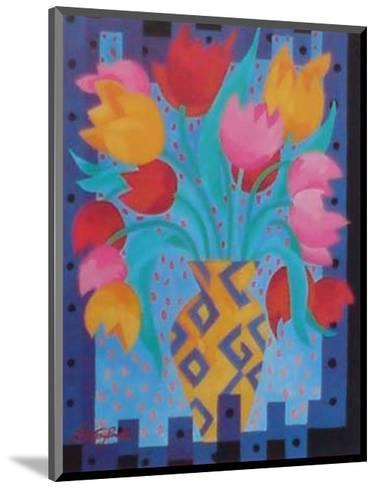 Primary Tulips-Fay Powell-Mounted Art Print